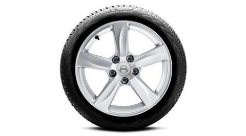 "16"" 5 Spoke Silver Matres Winter Wheels & Tyres  V40"